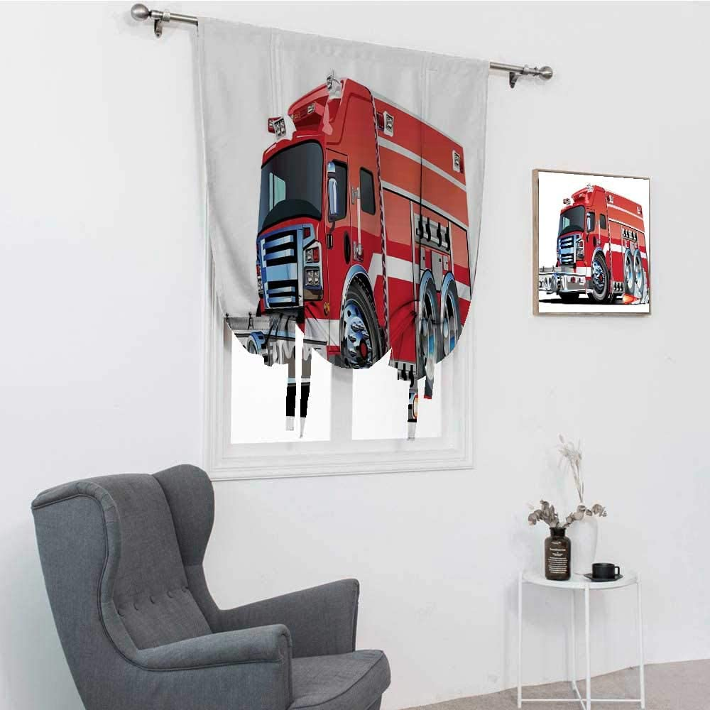 Max 50% OFF GugeABC Cars Drapes for Living Room with lowest price Fire Big Emergen Truck
