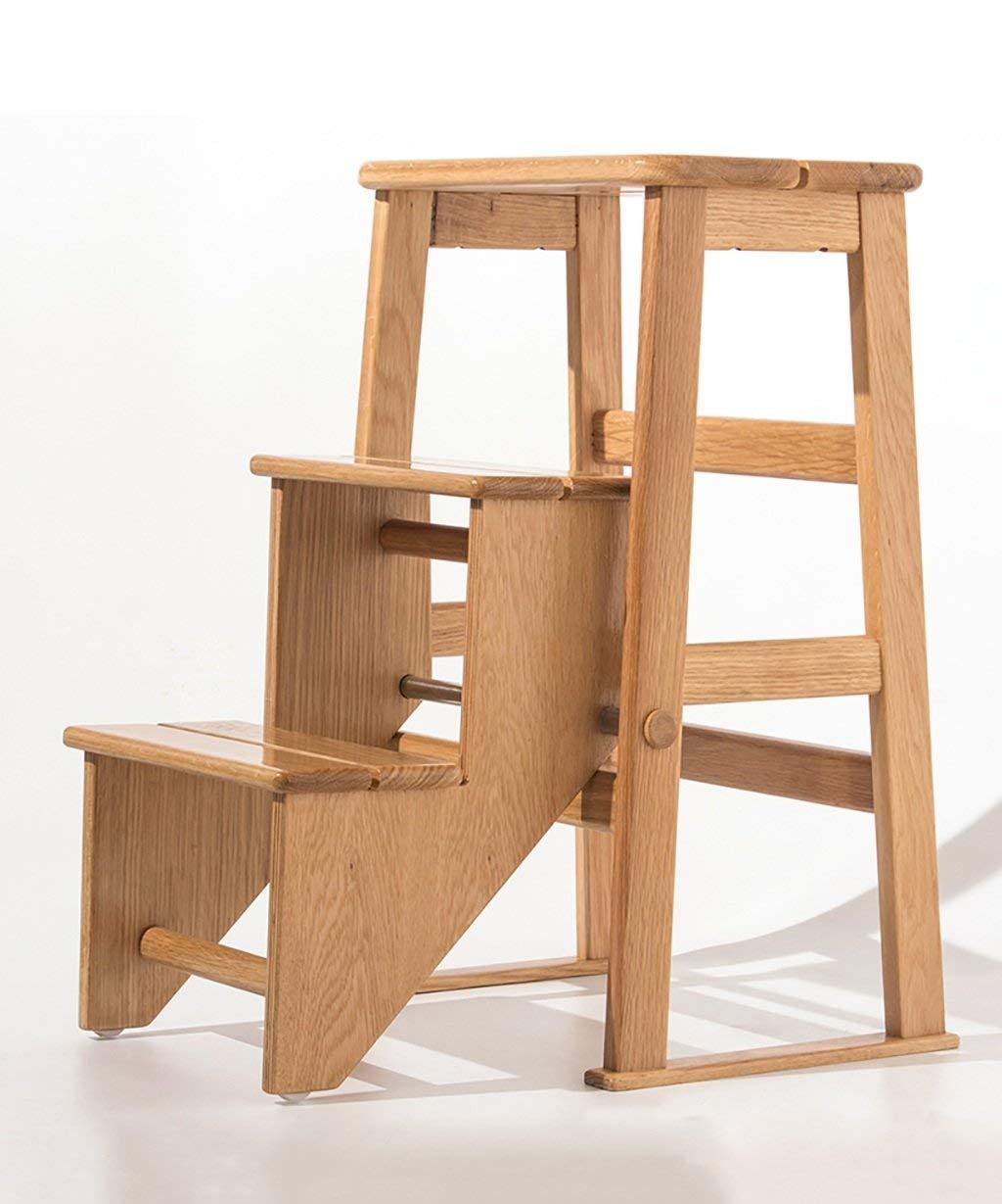 Jiaz Muebles/Estantería/Estantería de almacenamiento Plegable 3 peldaños Escaleras de madera maciza Escalera Taburete-Escalar Taburete escalonado Multifunción Doble uso Estante para flores Estant: Amazon.es: Bricolaje y herramientas