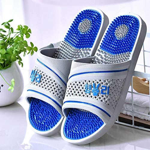 sandalias de zapatillas de masaje, zapatillas de masaje de baño de verano para hombres, sandalias de meridiano antideslizantes para pies de mujer, B gray_43, sandalias de ducha en mulas zapatos