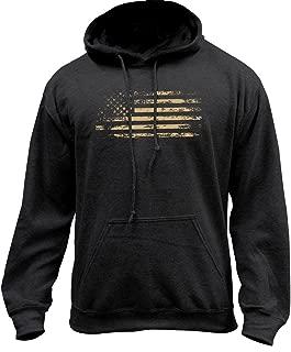 Distressed American Flag Pullover Hoodie