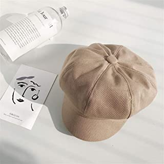 SHENTIANWEI Octagonal Cap Female Spring and Summer The New Korean net red Beret Painter hat British Retro Leisure Wild Influx of Men (Color : Khaki, Size : One Size)