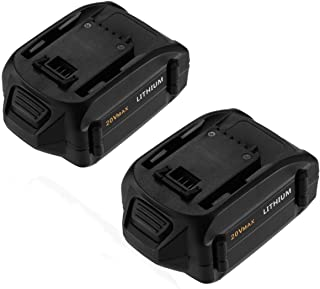 Powerextra 20 Volt MAX 4.0Ah WA3520 Replacement Battery Compatible with WG151s, WG155s, WG251s, WG255s, WG540s, WG545s, WG890, WG891 Lithium Battery (2 Pack)