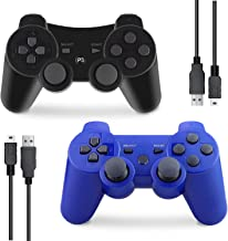 $21 » PS3 Controller Wireless, Gaming Remote Joystick for Playstation 3 with Charger Cable Cord (Blue, Black)