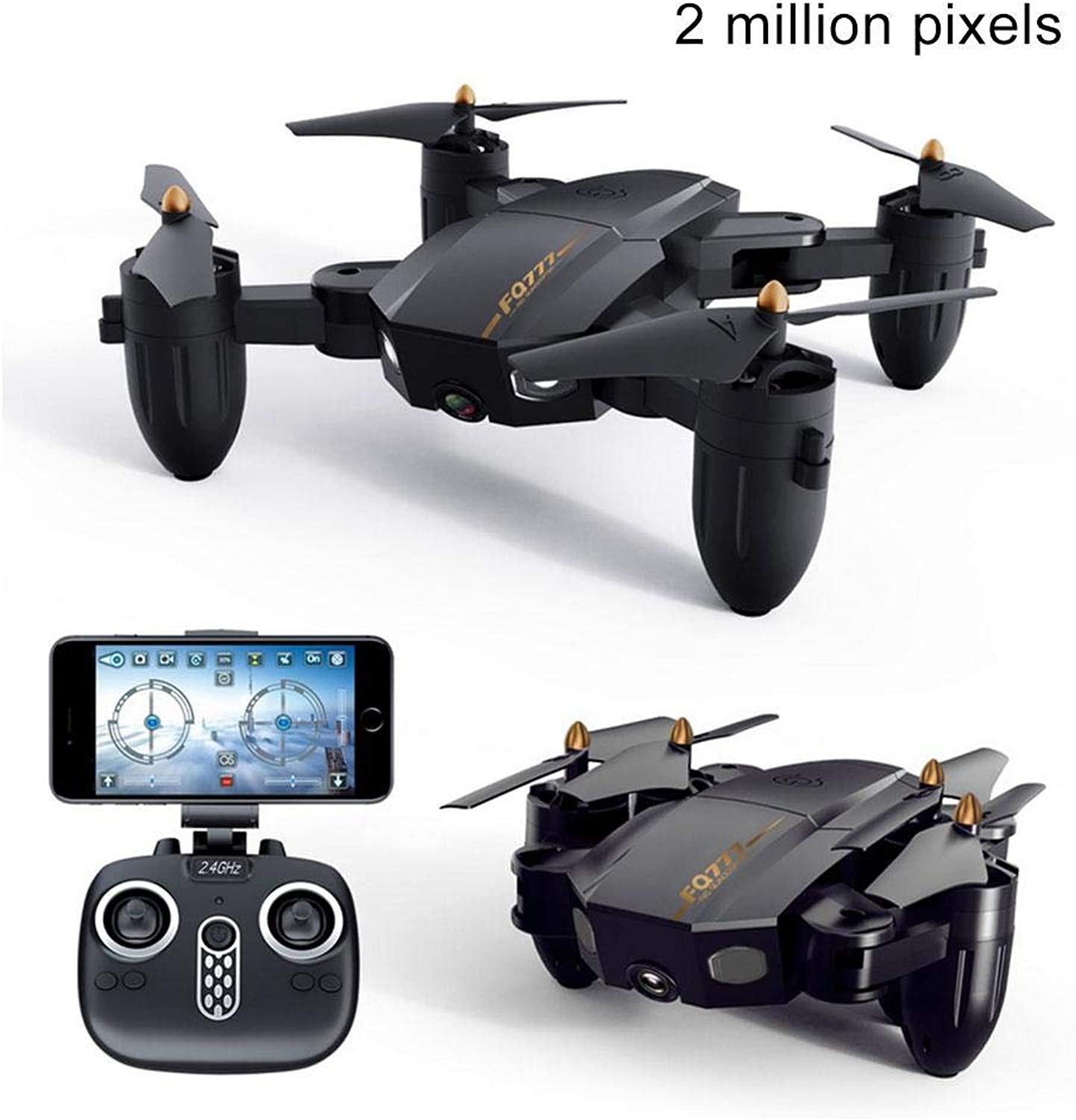 Teepao RC Quadcopter Drone kit, Foldable Drone Mini Pocket Drone with 2 Batteries,Easy to Use for Beginners,2.4G 6Axis Headless Mode,WiFi Real Time,One Key Return & 3D Flips Altitude Hold