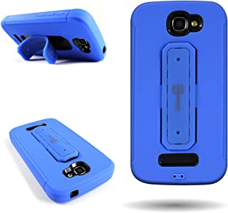 (Blue) Alcatel One Touch Fierce 2 / Pop Icon Hybrid Phone Case by CoverON Shockproof Protective Hybrid Cover with Snap Ring Kickstand
