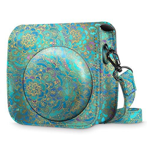 Fintie Tasche für Fujifilm Instax Mini 8 / Mini 9 Sofortbildkamera - Premium Schutzhülle Reise Kameratasche Hülle Abdeckung mit abnehmbaren Riemen, Jade