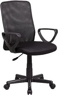 IFCO DECO AOC-8010-BK Modern Ergonomic Mesh Mid Back Executive Computer Desk Task Office Chair (Black)