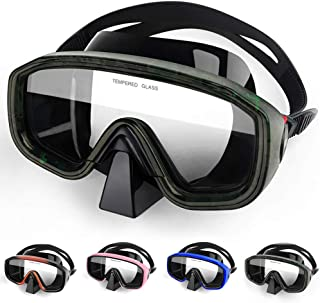 YFung Diving Goggles, 180°Panoramic Diving Snorkeling Goggles Tempered Glass Anti-fog Mask, Anti-Fog Anti-Leak Diving Mask...