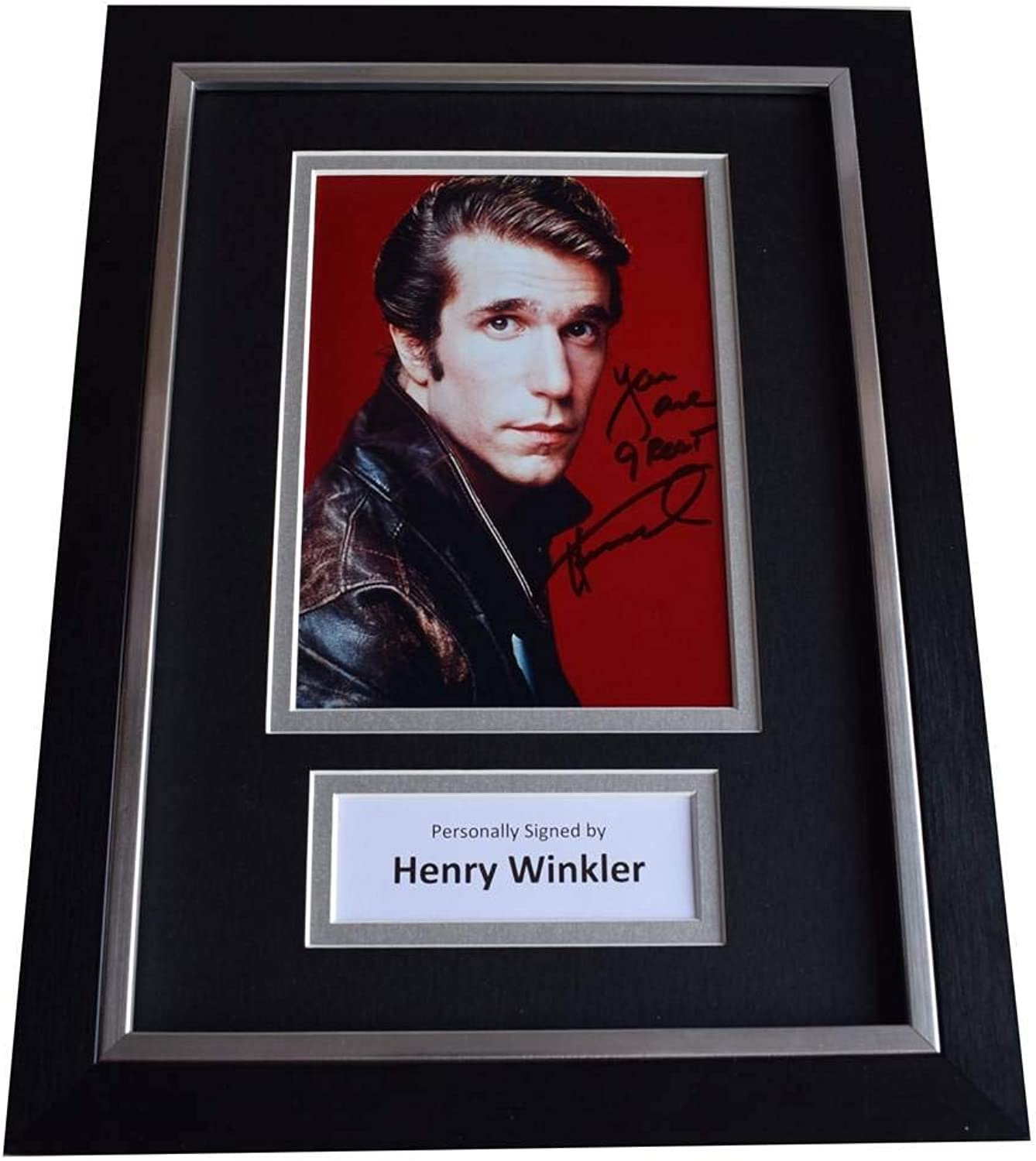 Sportagraphs Henry Winkler Signed A4 Framed Autograph Photo Display The Fonz Happy Days COA