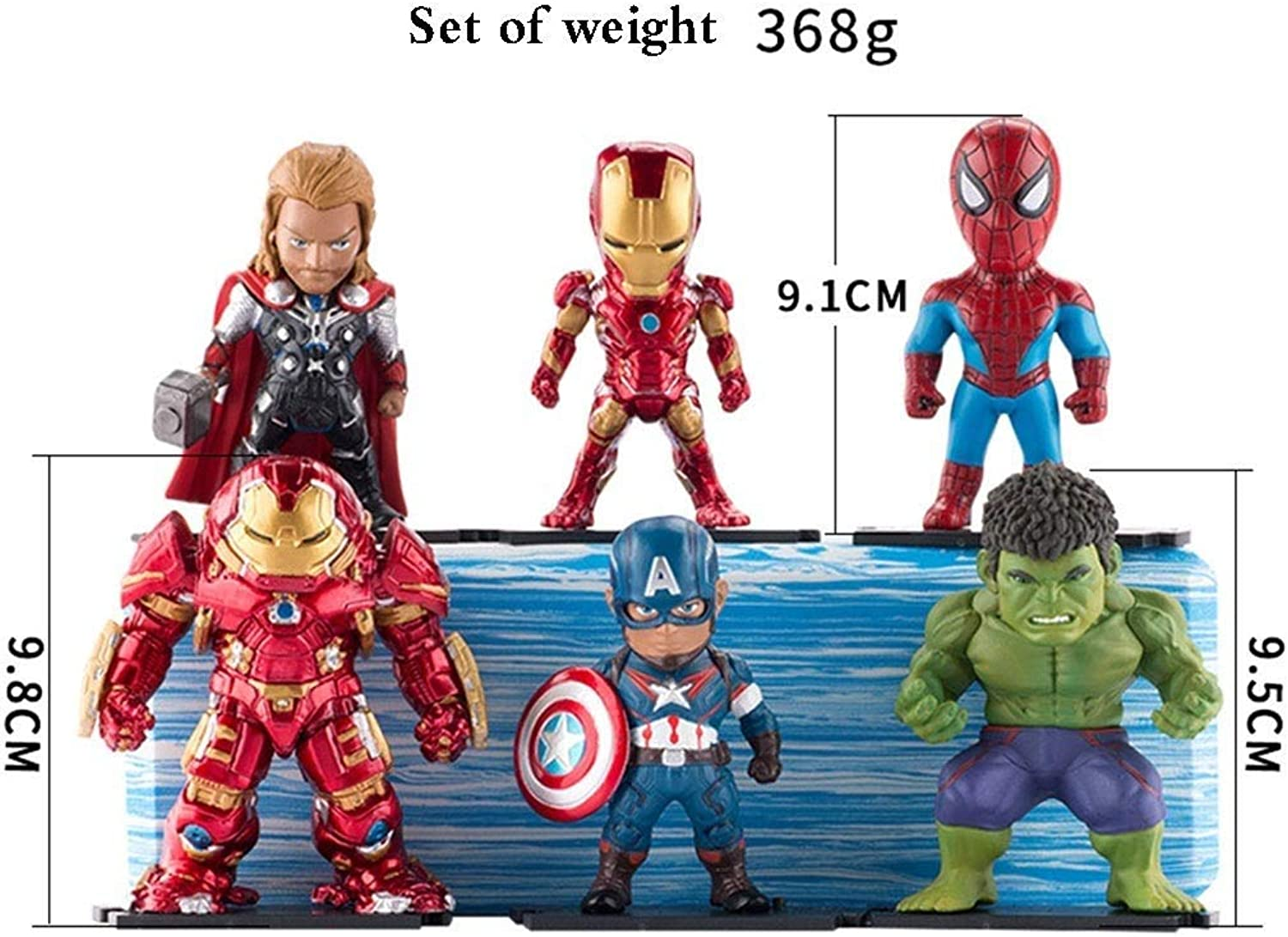 JTWMY Q version of the Avengers model toy spider anime handmade car accessories