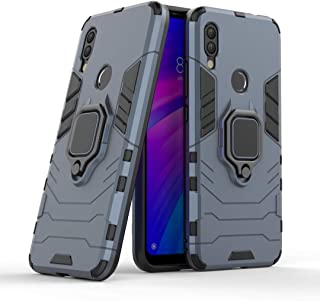FanTing Case for Oppo A73, Rugged and shockproof,with mobile phone holder, Cover for Oppo A73-Dark Blue