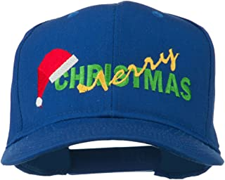 e4Hats.com Merry Christmas Santa Hat Embroidered Cap