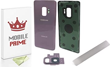 MOBILEPRIME Replacement Rear Battery Back Glass Back Cover Repair Kit Compatible for Samsung Galaxy S9 G960U G960F (Not Galaxy S9+) (Lilac Purple)