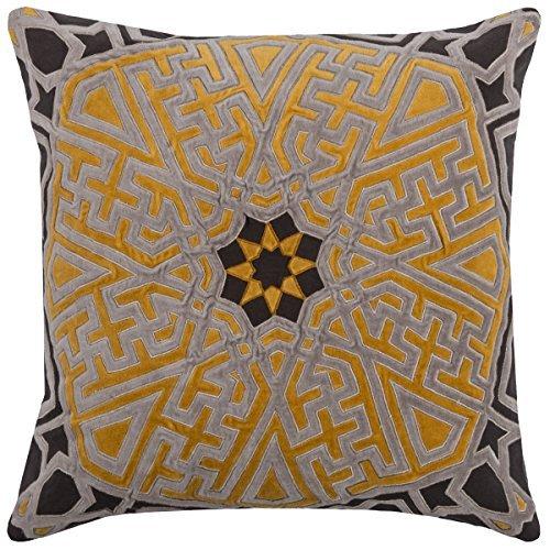 Rizzy Home pilt0813133942020medallón decorativo almohada, gris