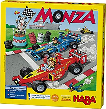 HABA Monza - A Car Racing Beginner s Board Game Encourages Thinking Skills - Ages 5 and Up  Made in Germany