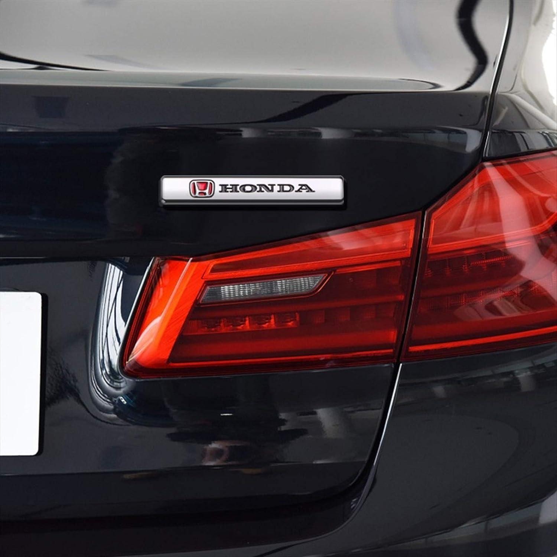 JXUS Estilo de autom/óvil 3D Emblema de Metal Emblema Decoraci/ón decoraci/ón para Coches Honda Accord City Civic Odyssey CRV HRV Accesorios de Jazz Dimensioni : For Honda