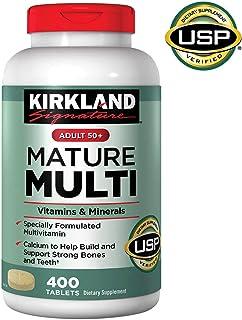Kirkland Signature Adult 50+ Mature Multi Vitamins & Minerals, 400 Tablets