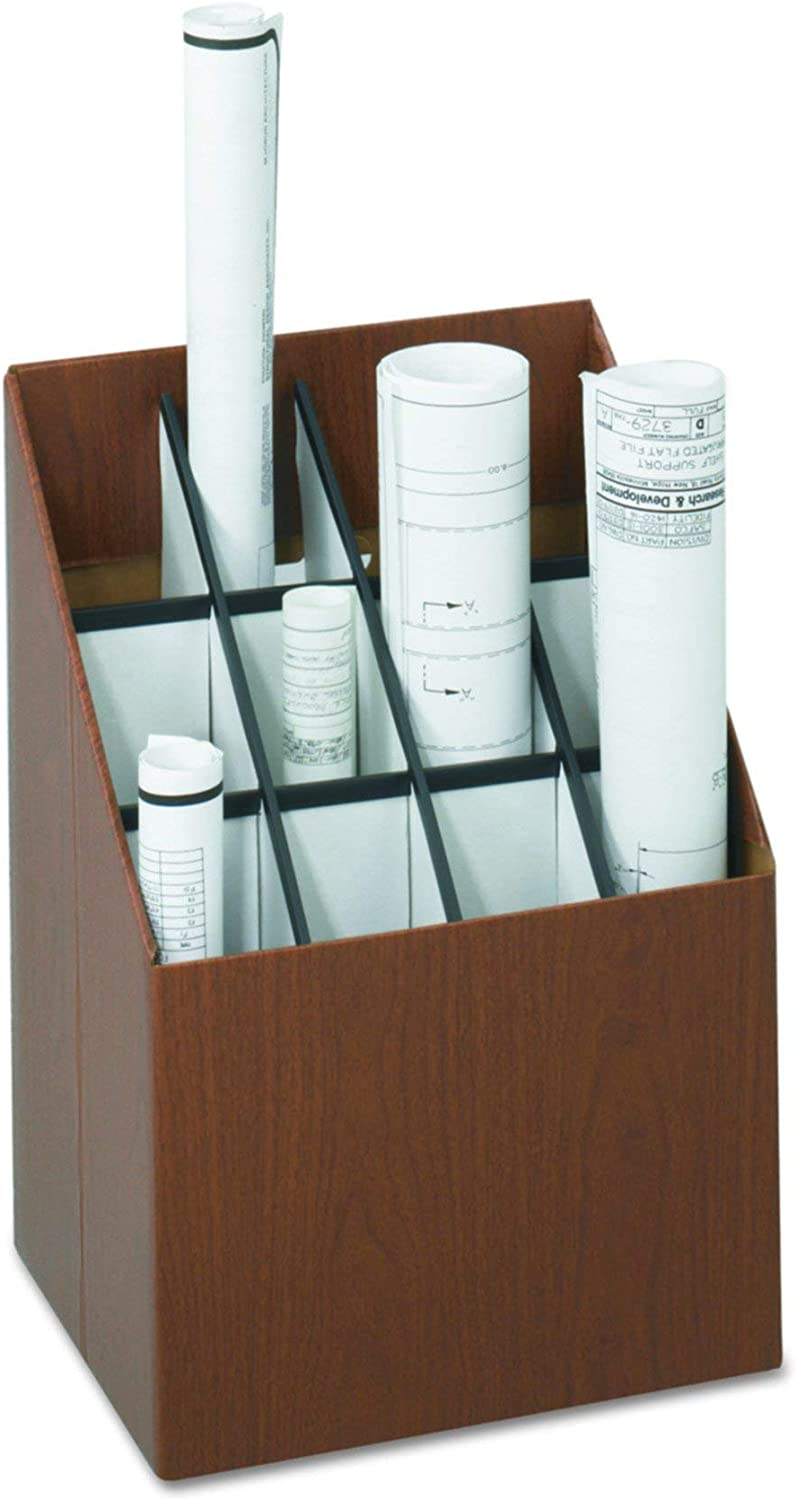 Safco Products 3079 greenical Roll File, 12 Compartment, Walnut