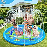 Cuscinetto per Sprinkler Esterno per Bambini. Tappeto da gioco per irrigatore VOLADOR 170 cm, adatto a bambini di 3-6 anni. I bambini possono giocare con i loro amici, genitori o animali domestici in questa piscina per bambini. Facile da Usare. Basta...