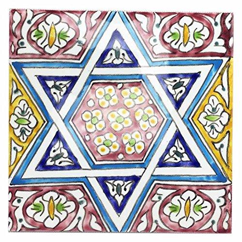 Mattonella piastrella Marocchina 20 x 20 in ceramica dipinta a mano di Fes