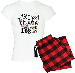 1361321b CafePress - Wine &Amp; Dog Women39;S Light Pajamas - Womens Novelty Cotton  Pajama