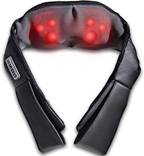 Safeplus Shiatsu Back Neck Massager with Heat and 3 Level Speed Deep Kneading Massage for Neck,Back,Shoulder,Waist,Leg,Calf,Foot in Car Home and Office(Black)