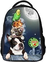 Children's Backpack,Kids Backpack 3D Printed Cute Unisex Toddler Kids School Bag, Animal Design