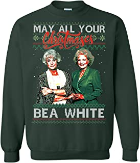 TeeKool May All Your Christmases Bae White Golden Girl Hoodie - Long Sleeve - Sweatshirt