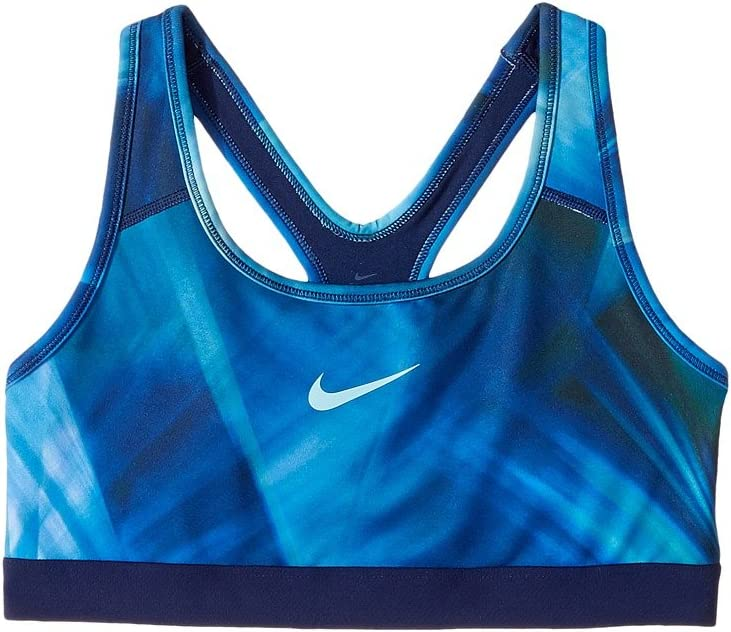 Nike Kids Pro Classic Medium Support Sports Bra Little Kids/Big Kids Hydrangeas/Binary Blue/Hydrangeas Girl's Clothing(XS)