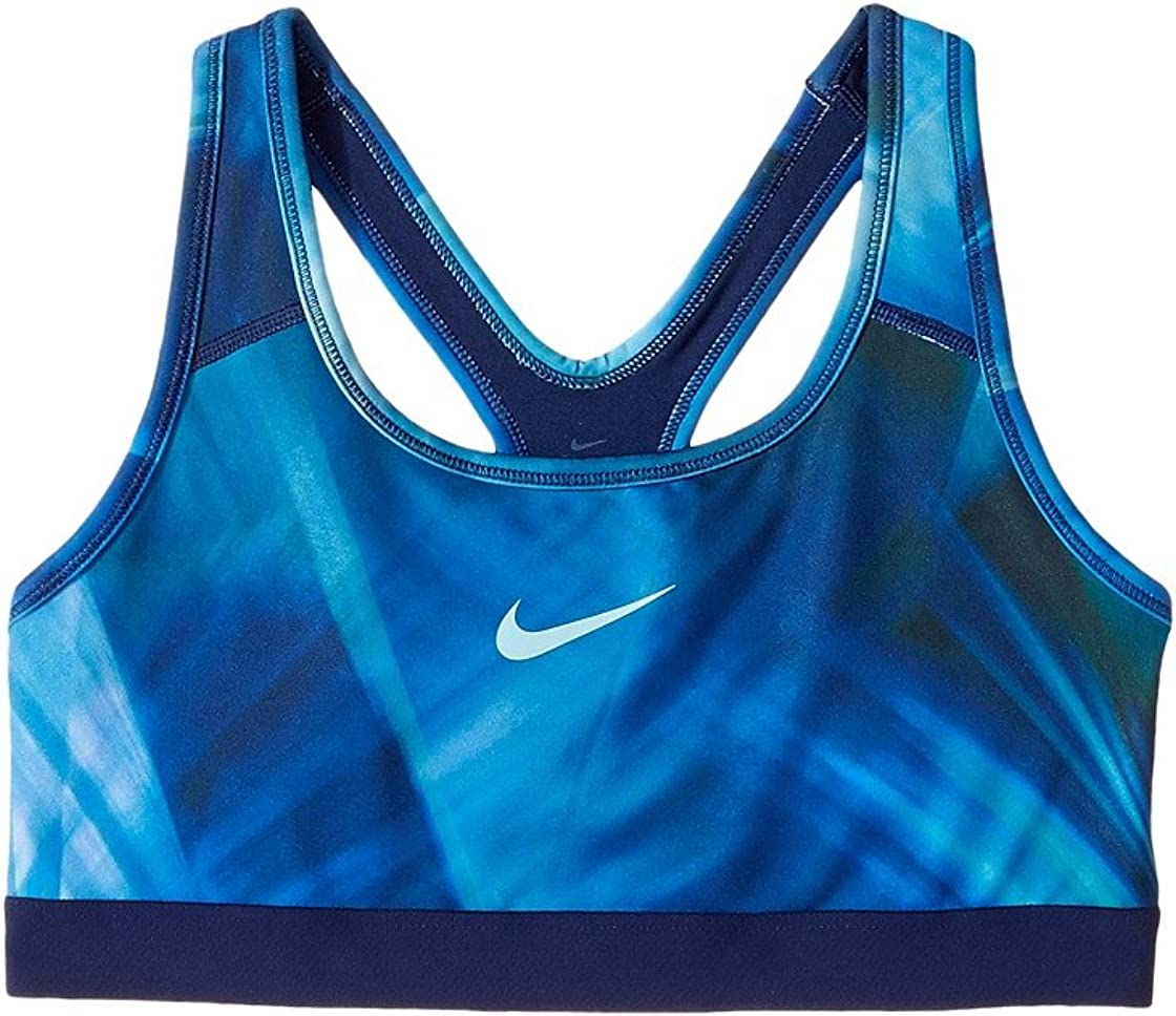 Nike Kids Pro Classic Medium Support Sports Bra Little Kids/Big Kids Hydrangeas/Binary Blue/Hydrangeas Girl's