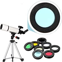 GENERIC 8Pcs/set 1.25inch Lens Filter Kit Nebula Filter Moon Sun Filter compatible for Telescope Eyepiece Accessories