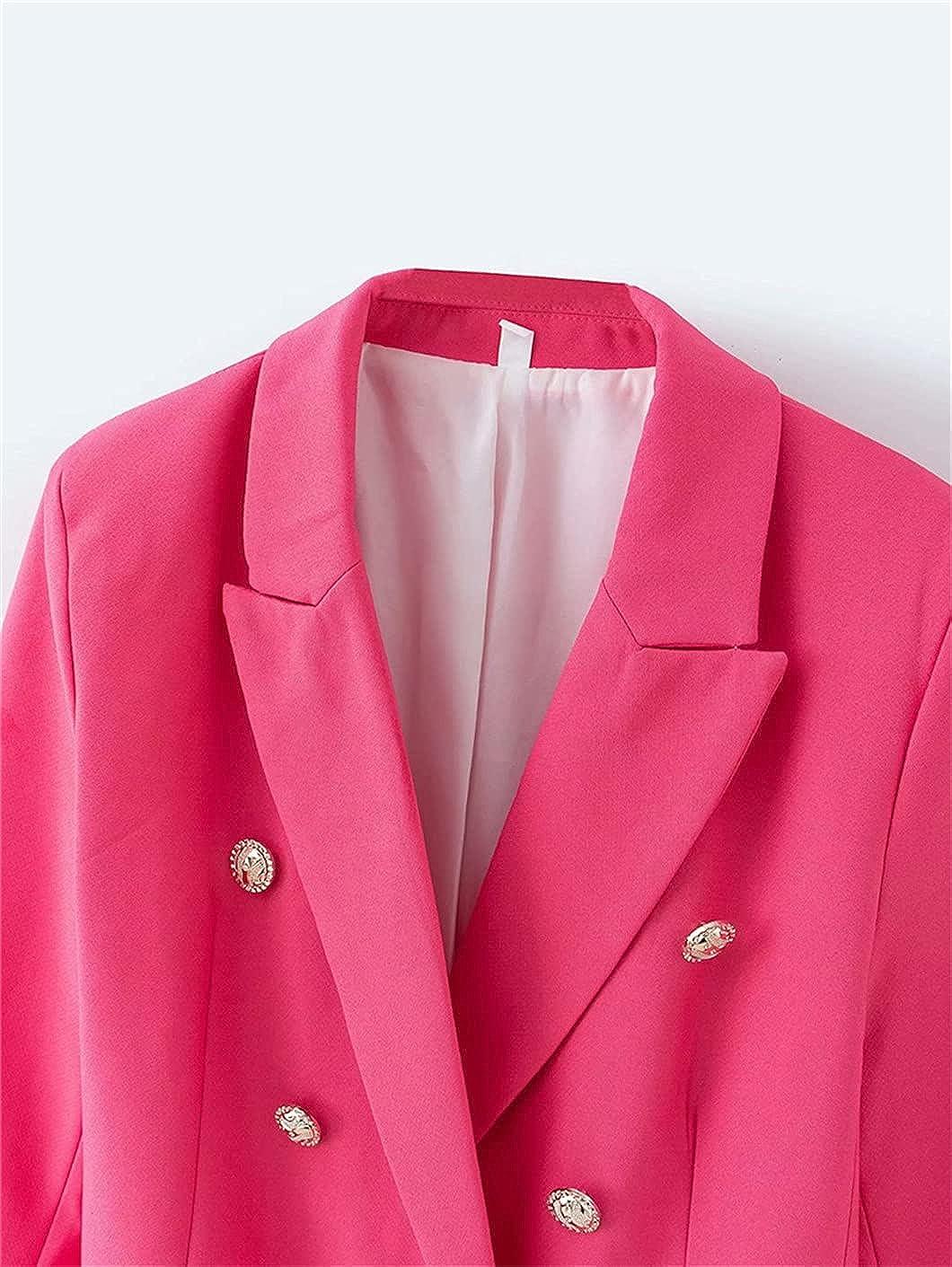 Women Chic Button Blazer Ladies Jackets Casual Female Slim Suits Girls Chic Sets