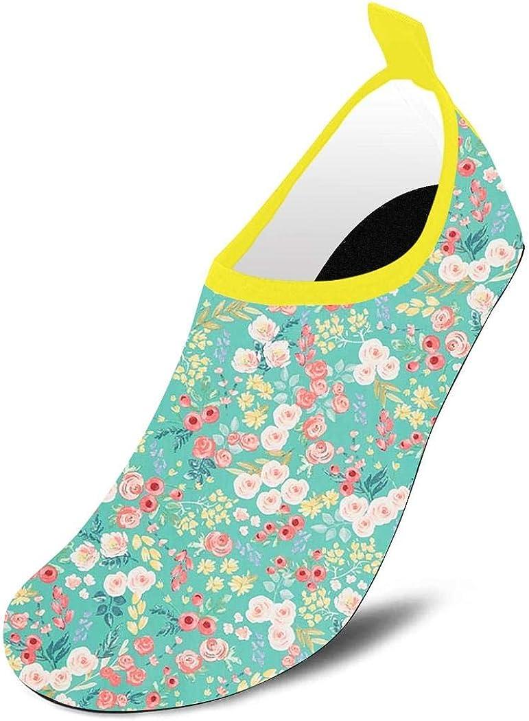 Quick-Dry Aqua Socks Barefoot Water Sports Shoes for Boys Girls Toddler Flower Market Swim Barefoot Beach Yoga Shoes