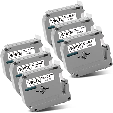 3PK Label MK231 Compatible with Brother M-K231 P-Touch Tape PT-65 80 85 90 70