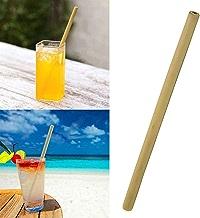 SUPVOX 12 St/ücke Nat/ürliche Bambus Trinkhalme Wiederverwendbare Biologisch Abbaubare Bambus Strohhalme mit 1 st/ück Reinigungsb/ürsten f/ür Kinder und Erwachsene 19,5 CM