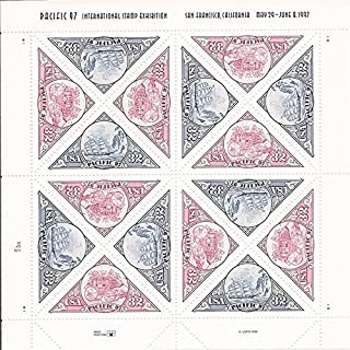 Pacific 97 16 x 32 Cent U.S. Postage Stamps 1997 #3130-31 by USPS