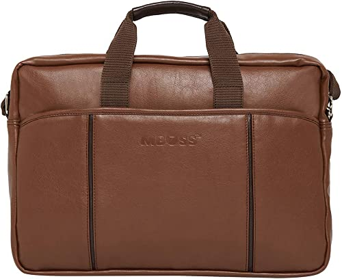 Tan 5 6 Liter Travel Faux Leather 15 6 Inch Laptop Messenger Bag