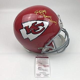 Autographed/Signed Eric Berry Strong Kansas City Chiefs Full Size FS F/S Replica Football Helmet JSA COA