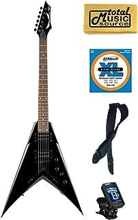 Dean Dave Mustaine V Classic Black Electric Guitar FREE Strings Tuner Strap ,VMNTX CBK PACK