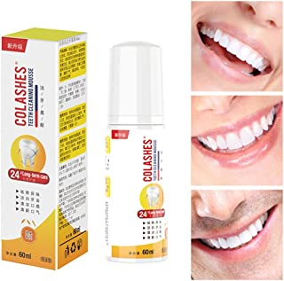 Masrin Cleansing Mousse Whitening Teeth Whitening Tooth Tooth Remover Bad Breath Oral Fresh Care Foam Toothpaste 60ml (Multicolor)