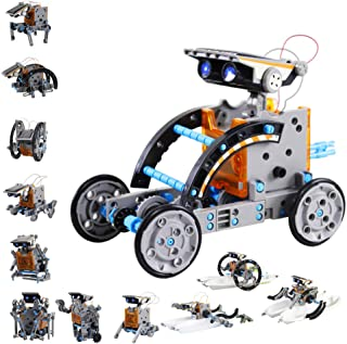 Innoo Tech STEM 12-in-1 Education Solar Robot Toys -190 Pieces DIY Building Science Experiment Kit for Kids, Robotics Crea...