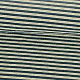 Nickistoff Streifen jeansblau Winterstoffe Kinderstoffe