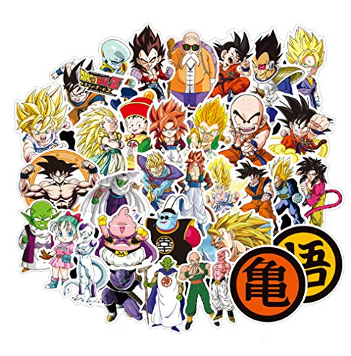 100Pcs Dragon Ball Z Laptop Stickers Anime Waterproof Stickers for Skateboard Luggage Helmet Guitar Super Z Sticker, Best Gift for Kids Teen