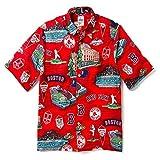 Reyn Spooner Men's Boston MLB Classic Fit Hawaiian Shirt, RED SOX - Scenic 2019, Large
