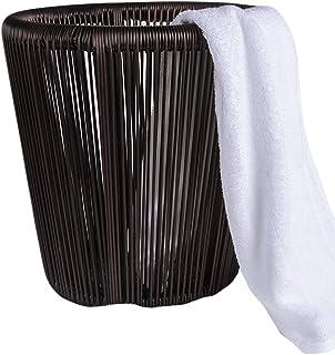 XINYALAMP Sale Hamper Serviette de Bain Panier d'achat Hôtel en Alliage d'aluminium Cadre PE rotin tissé étanche à l'humid...