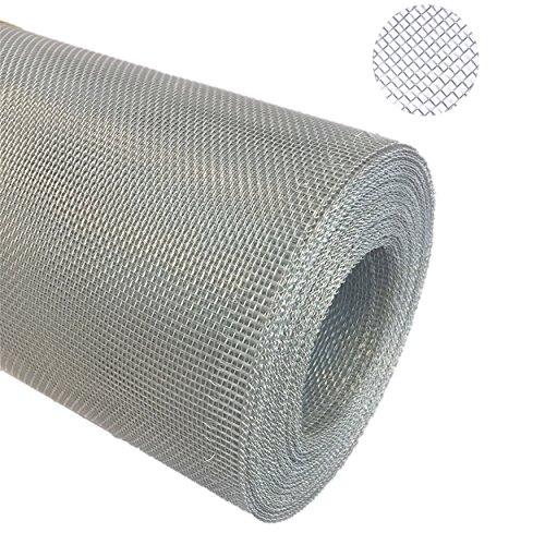 Aluminium Gewebe Fliegengitter Alu-Gewebe Fliegenschutz Alunetz Gitter Lichtschacht 25,0 m als Rolle x 0,6 m (60 cm), Grundpreis/m² € 4,75