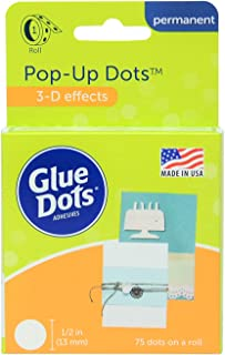 Glue Dots Pop Up Adhesive Dot Roll, Contains 75 (.5 Inch) Diameter Adhesive Dots (12296)