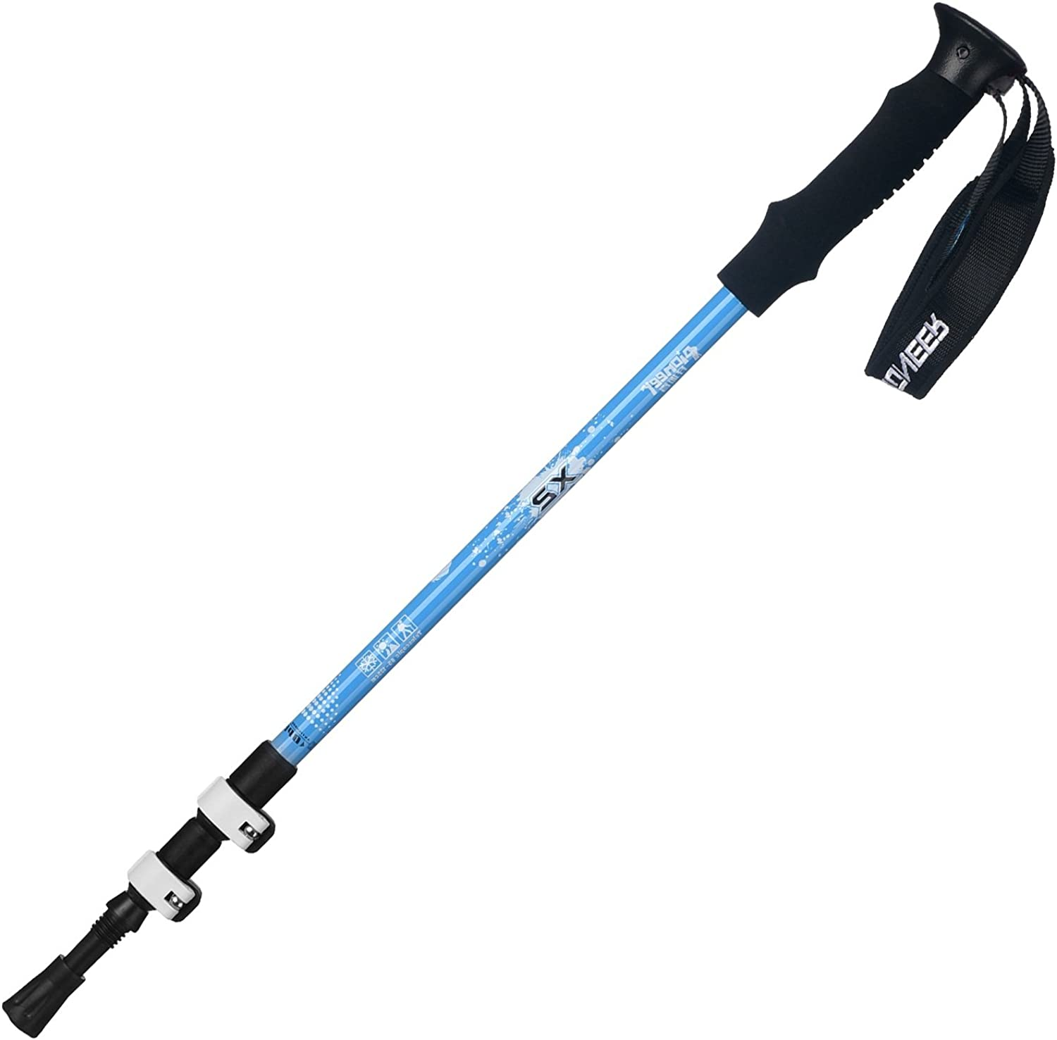 QAR External Lock Aluminum Trekking Pole Outdoor Walking Stick Hiking Pole Folding Trekking Pole Hiking Pole Trekking Pole
