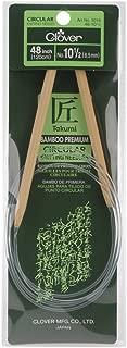 CLOVER Takumi Bamboo Circular 48-Inch Knitting Needles, Size 10.5
