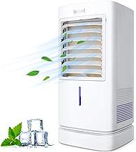 Aire Acondicionado Móvil, Enfriador de Aire Portátil con Cristal de Hielo , Climatizador Evaporativo Silencioso de Bajo Consumo de Energía con Humidificación para Hogar y Oficina